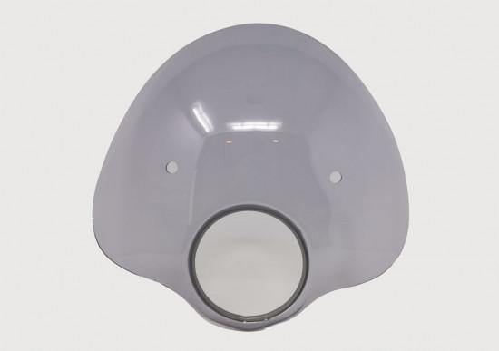 Cupolino modello 'Bubble' Fumè (compreso set staffe) per Lambretta S3 LI (+ adatt. S2)