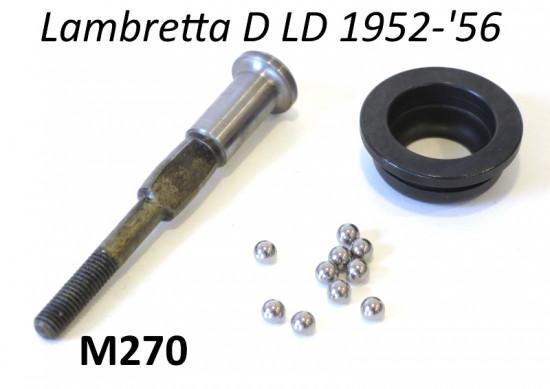 Kit tirante frizione (asta + sfere + calotta pista per sfere) per Lambretta D + LD 1952-'56