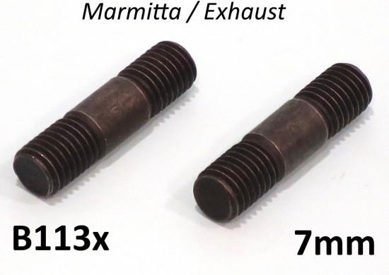 Prigionieri marmitta M7 Lambretta S1 + S2 + S3 + SX + DL + J + Lui