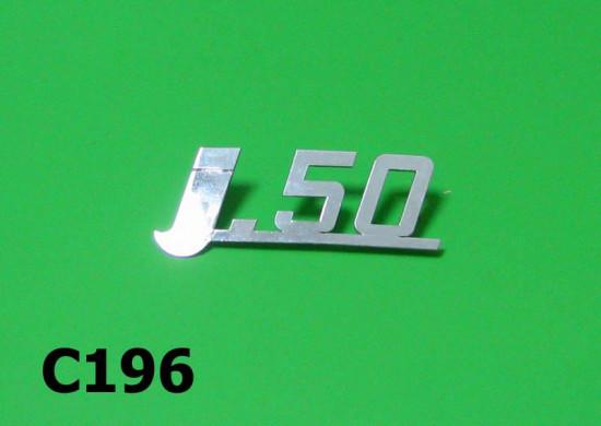 "Targhetta posteriore ""J 50"""