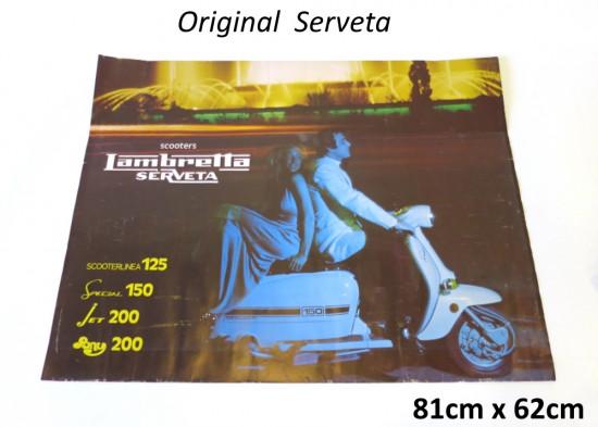 Poster pubblicitario per la gamma Lambretta Serveta