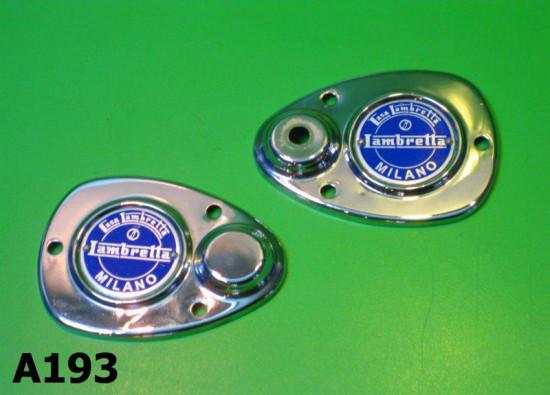 Coppia accessori cromati per forcella Lambretta D LD (+F Vers.2)