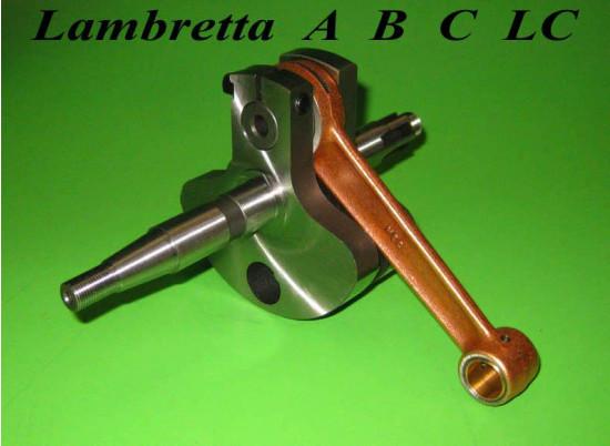 Albero motore completo Lambretta A + B + C + LC