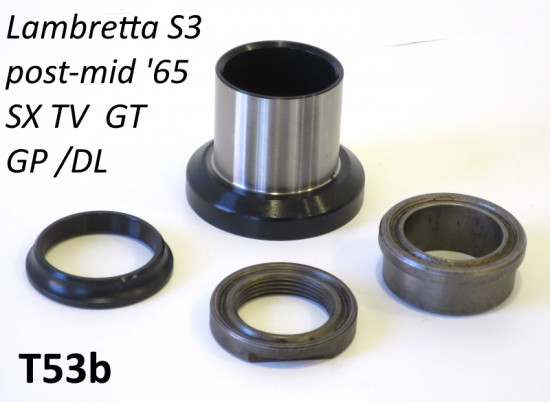 Kit calotte sterzo Lambretta S3 post. '65 + TV3 + Special + SX + DL + Serveta