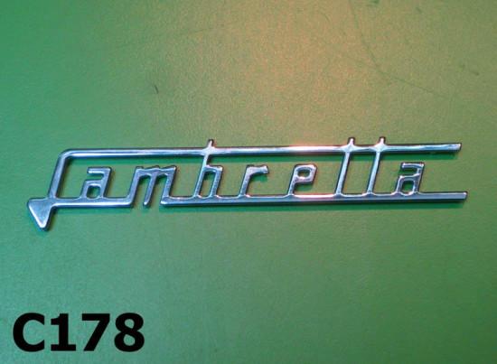 """Scritta """"Lambretta"""" tipo grande per scudo anteriore Lambretta Special + SX150 + SX200 + J50 DELUXE"""
