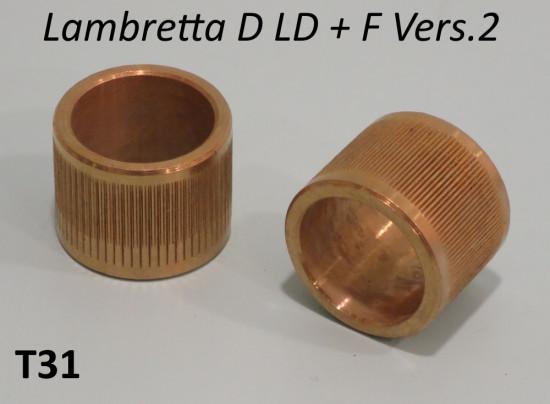 Coppia bronzine coperchi forcella Lambretta D + LD + F
