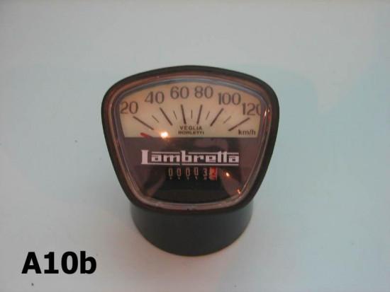 Contachilometri scala 120 Km/h per Lambretta DL150