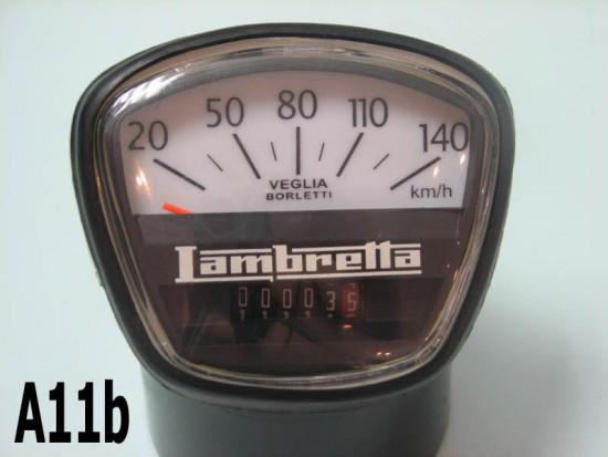 Contachilometri scala 140 km/h per Lambretta DL200