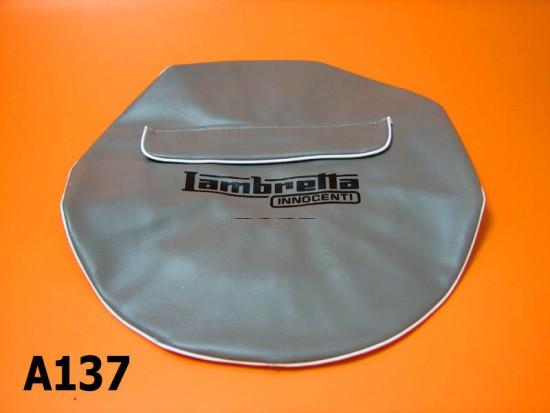 """Cuffia ruota scorta grigia con tasca Lambretta J 10"""" (+ Lambretta S1 S2 S3 GP DL Serveta)"""