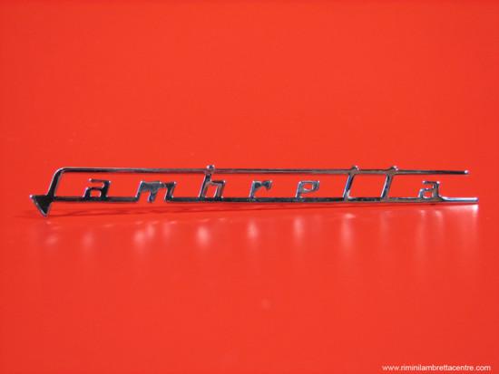 """Scritta """"Lambretta"""" scudo anteriore per Lambretta S1 + S2 + TV2 + S3 + TV3 + Special + SX"""