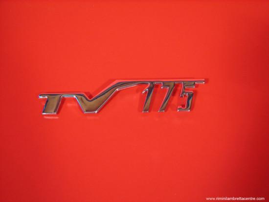"Scritta ""TV 175"" cofani laterali Lambretta TV1 + TV2"