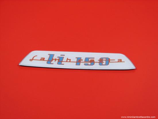 Targhetta posteriore Lambretta S3 150cc