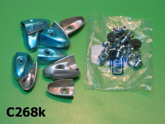Kit puntalini in alluminio e viteria per listelli pedana Lambretta LD + S1 + S2