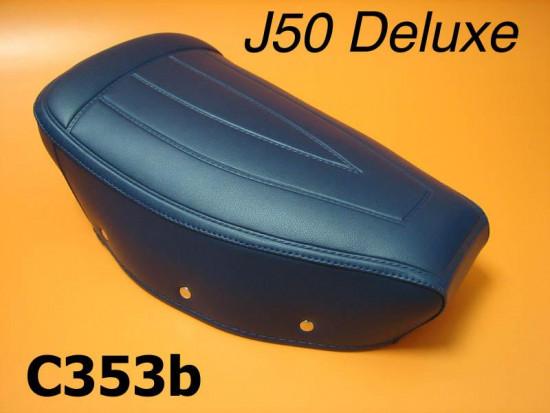 Copertina SOLA per sella corta blu per Lambretta J50 Deluxe