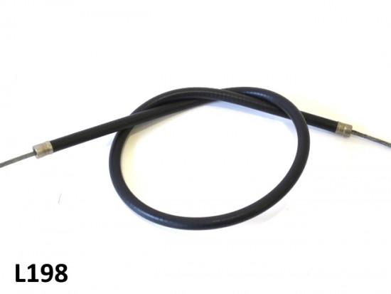 Guaina nera e filo per freno posteriore di altissima qualità Lambretta DL + Serveta