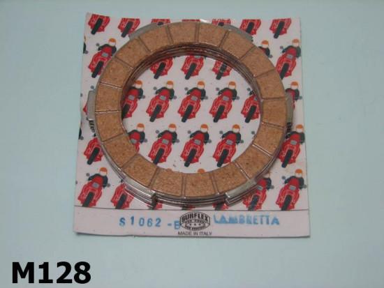 Kit dischi frizione Surflex guarniti in sughero Lambretta S1 + S2 + S3 + SX + DL