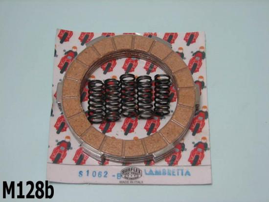 Kit frizione 4 dischi completo di molle Surflex Lambretta S1 + S2 + S3 + Special + DL 125/150cc