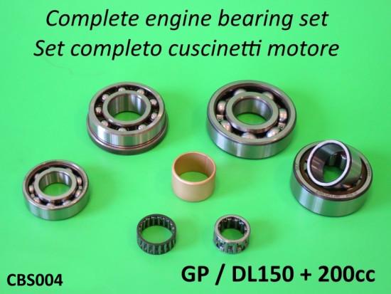 Kit completo cuscinetti motore di alta qualità per Lambretta DL150 + 200cc