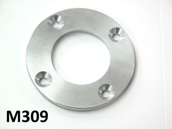 Flangia porta paraolio (lato catena) in alluminio per albero motore Lambretta S1 + S2 + S3 + SX + DL + Serveta