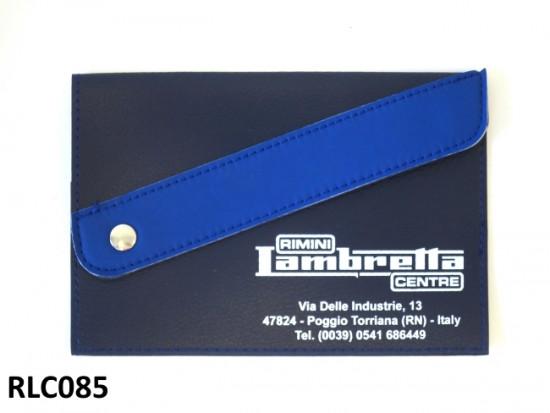 Portadocumenti 'Rimini Lambretta Centre' (nero / blu scuro)