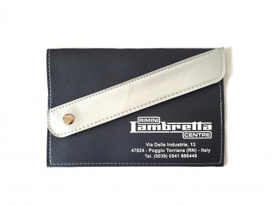 Portadocumenti 'Rimini Lambretta Centre' (nero / grigio chiaro)