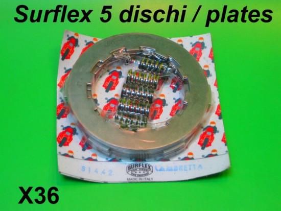 Kit frizione Surflex 5 dischi Lambretta S1 + S2 + S3 + SX + DL + Serveta