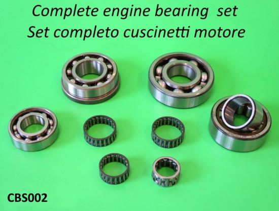 Kit completo cuscinetti motore di alta qualità per Lambretta S1 + S2  + TV2 + S3 + TV3 + SX + Special