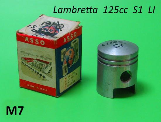 Pistone 125cc completo Asso / Vertex / Gol (+ maggiorazioni varie a scelta) Lambretta S1 125cc