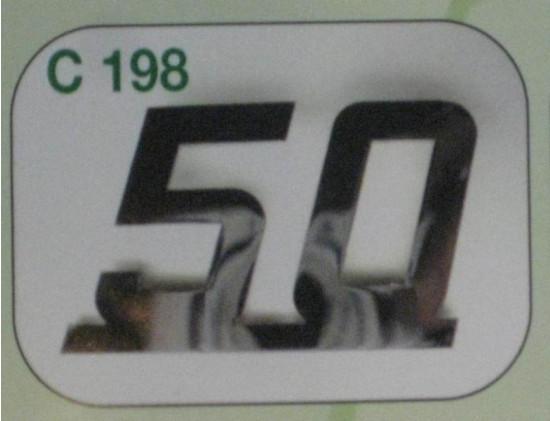 """Scritta """"50"""""""
