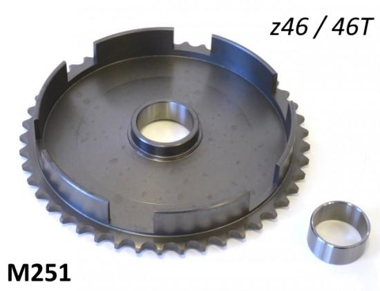 Corona campana frizione z46 per Lambretta J50 Vers.1