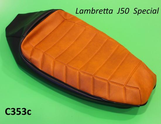 Copertina sella marrone + nero (con imbottitura) Lambretta J50 Special