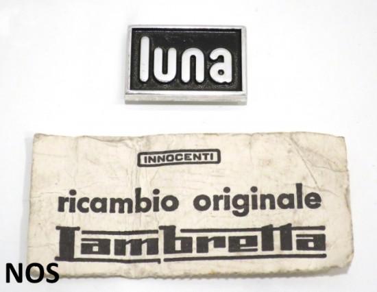 Scritta 'Luna' Originale NOS Innocenti per Lambretta Lui (modelli esteri)