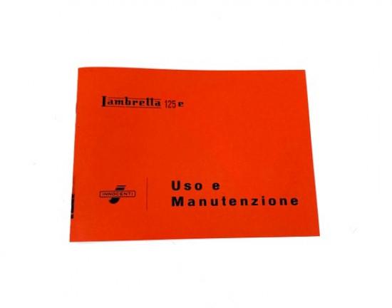 Libretto 'Uso e Manutenzione' Lambretta E