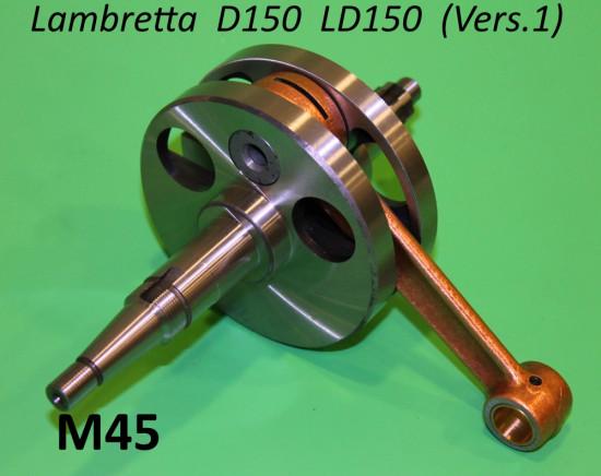Albero motore completo (spinotto da 14mm) Lambretta D150 LD150 Vers.1