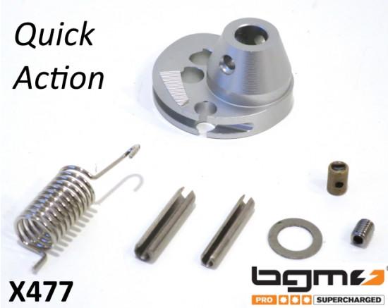 Kit gas rapido BGM CNC colore Argento per Lambretta S3 + DL + Serveta + SX + TV3 + Special
