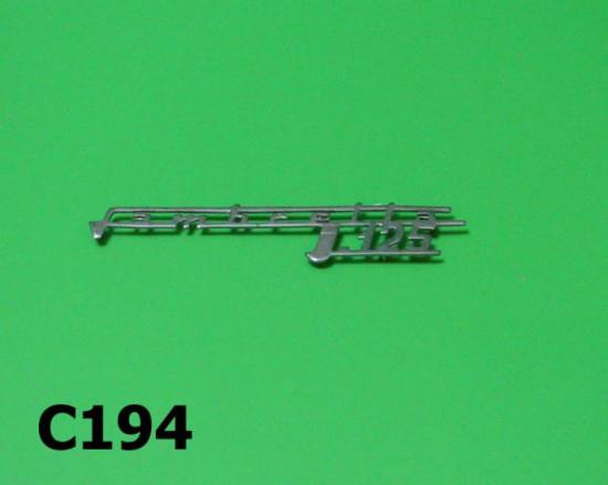 """Scritta """"Lambretta J 125"""""""