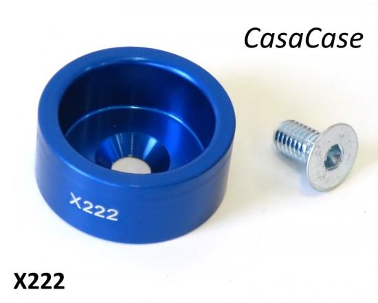 Porta tampone fine corsa (anodizzato blu) per blocco motore CasaCase