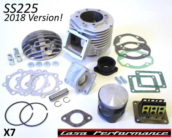 Kit cilindro Casa Performance SS225 Lambretta SX + DL + Serveta, carter motore tipo 200cc