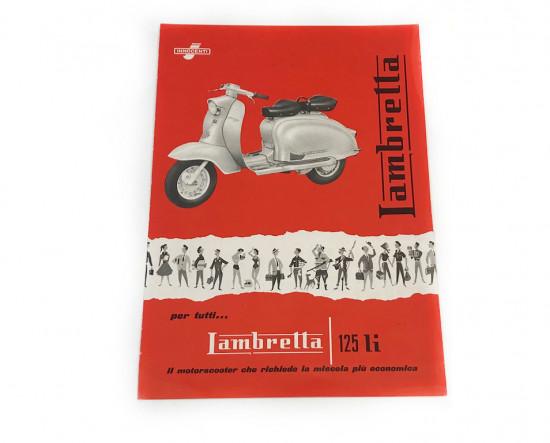 Brochure originale presentazione Lambretta S1 125cc