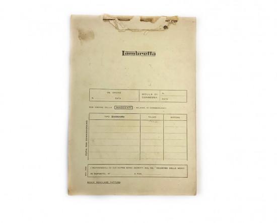 Bollettario originale concessionari Innocenti