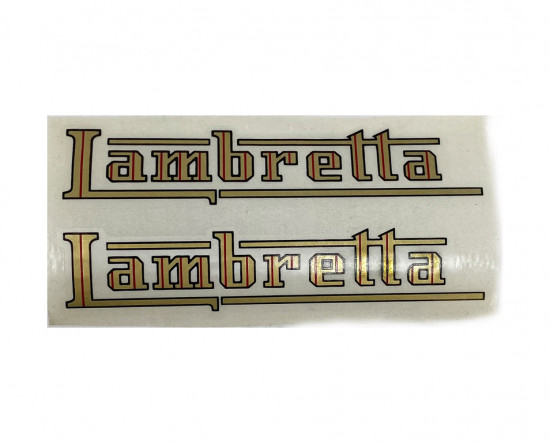 """Adesivi serbatoio """"Lambretta"""" Lambretta C + D + E + F"""