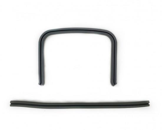 Coppia profili in gomma ponticello pedana Lambretta S3 + TV3 + Special + SX