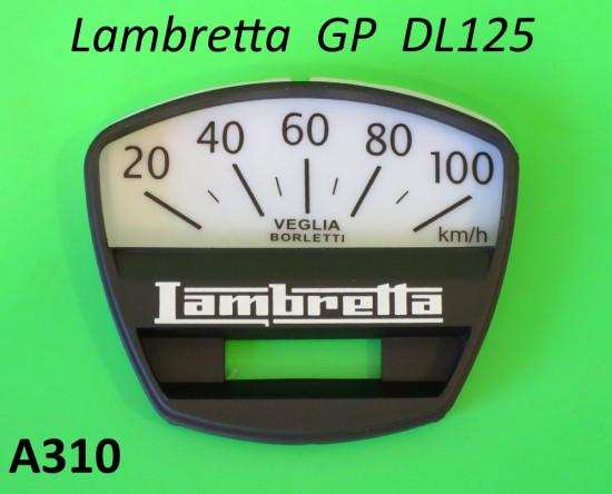 Fondo serigrafato + mascherina superiore per contakm scala 100 Km per Lambretta DL125