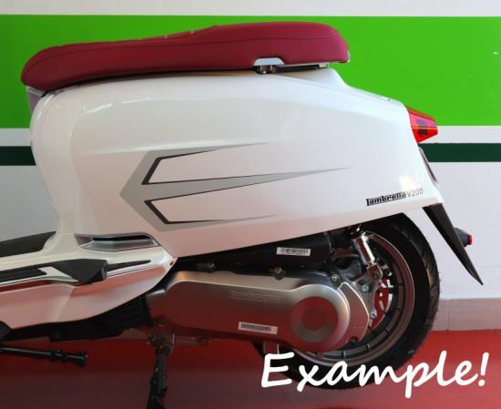 Kit adesivi fiancate laterali Argento Nuova Lambretta V Special