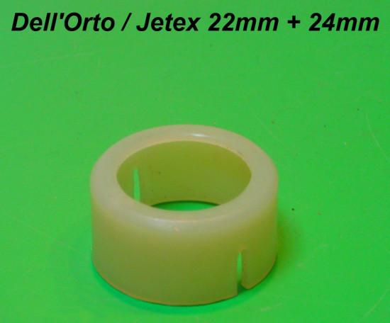 Boccola in teflon per carburatore SH2/22mm + Jetex 22mm / 24mm