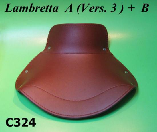 Copertina sella anteriore, marrone, per lambretta A (Vers.3) + B