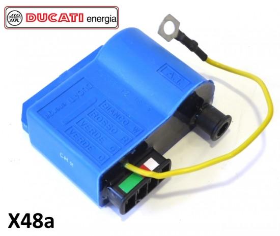 Bobina CDI (colore blu) per accensione elettronica 12V Ducati + SIL + BGM + accensioni simili