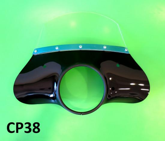 Cupolino nero Cuppini modello 'Classico' Lambretta S2 + S3