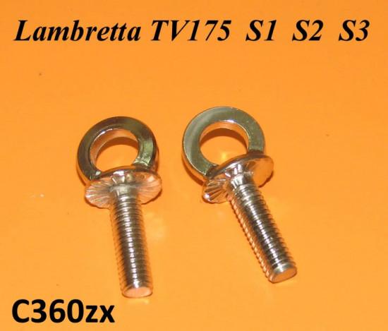 Paio di occhielli per fissaggio maniglia sella C362 - Lambretta TV1 TV2 TV3