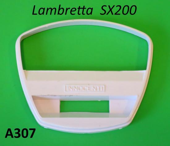 Mascherina bianca per contakm scala 140 per Lambretta SX200